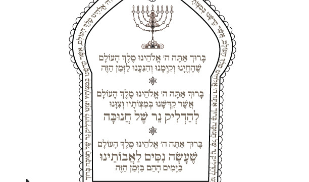 Decisive image in hanukkah prayer printable