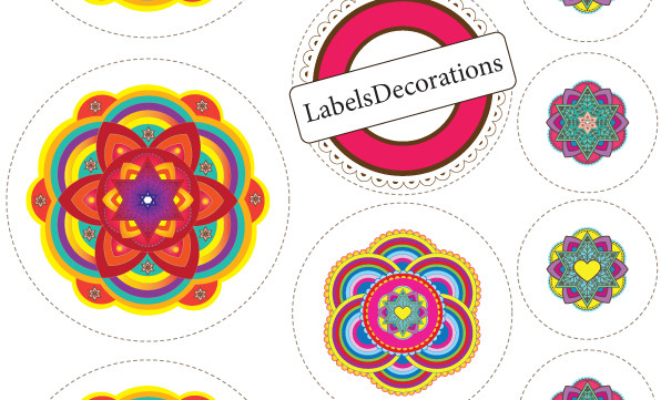 Jewish Art Round Labels