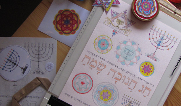 Hanukkah Menorah coloring