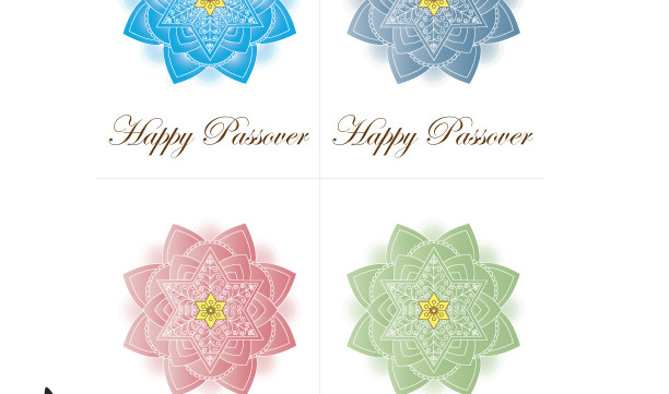 Happy Passover Greeting Cards-Jewish Mandalas Print-Easy Holiday Paper Craft-Pesach Art Printable-DIY Project-INSTANT DOWNLOAD by @zebratoys