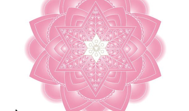 Light Pink Jewish Mandala Wall Art Print-Meditative Judaica Gift-Holiday Decorating