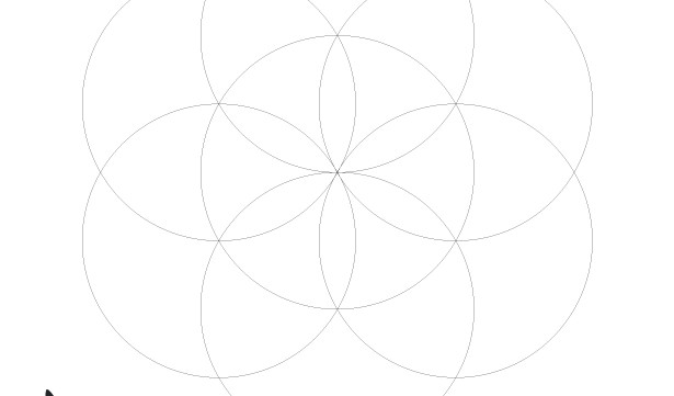 The Seed of Life-Sacred Geometry-Esoteric Sources-Mystical Symbol-Spiritual Art-Coloring Page Printable-