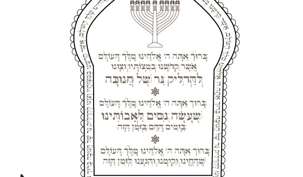 photograph relating to Hanukkah Prayer Printable referred to as Hanukkah Prayers-Menorah Printable-Hanukiah blessing-Therapeutic