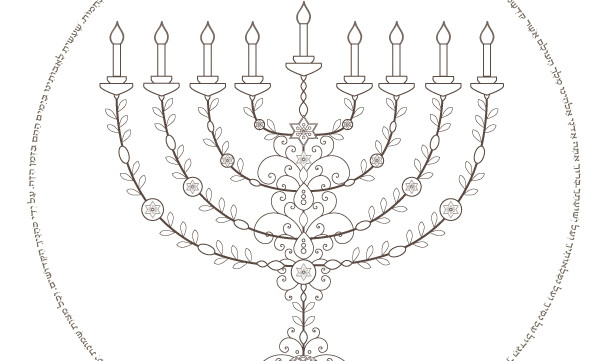 graphic relating to Menorah Printable named Menorah Printable-Hanukkah Hebrew Prayer-Hanukiah-Canukkah