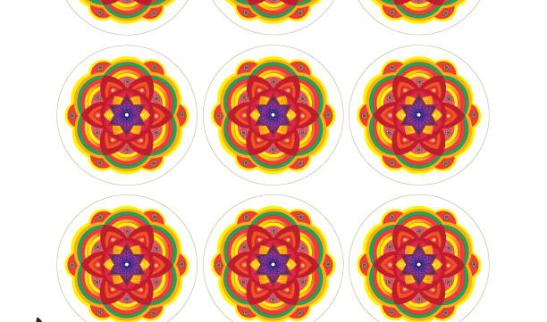 """Star of David Faith Mandalas-2.5"""" Round Tags-Scrapbooking Printable-A4 Sheets of Labels-Jewish Art Project-DIY Paper Crafts-INSTANT DOWNLOAD"""