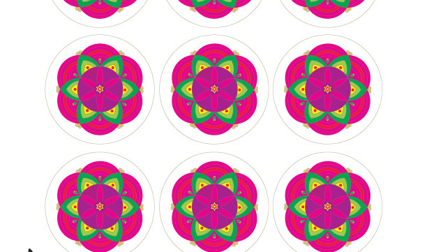 "Star of David Mandalas-2.5"" Round Tags-Scrapbooking Printable-A4 Sheets of Labels-Jewish Art Projects-DIY Arts Paper Crafts-INSTANT DOWNLOAD"