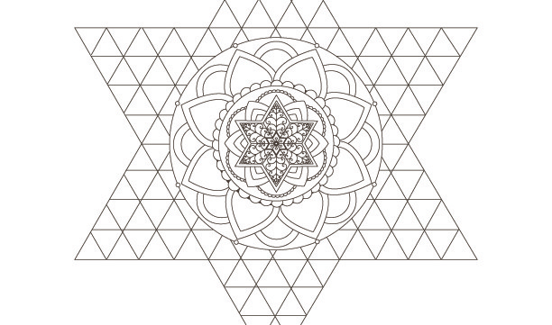 Star of David-Mandala-Passover Coloring Page-1 Printable Design-Jewish Star-Arts Crafts Supplies-Magen David-INSTANT DOWNLOAD by @zebratoys