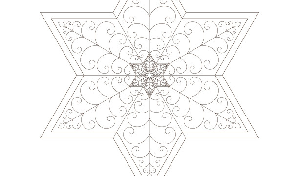 Golden Spiral Jewish Star of David-Sacred Geometry-Energy Healing Mandala-Coloring Printable-INSTANT DOWNLOAD by @HALELUYA Jewish Soul Art