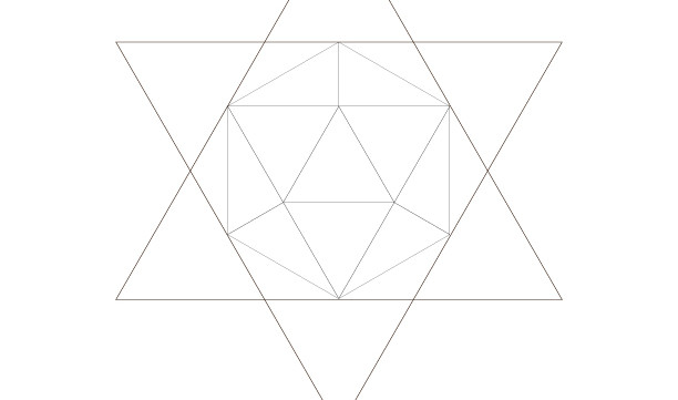 Icosahedron Star Of David-Sacred Geometry Art-Energy Healing Symbol-Coloring Page Printable-INSTANT DOWNLOAD by @HALELUYA Jewish Soul Art