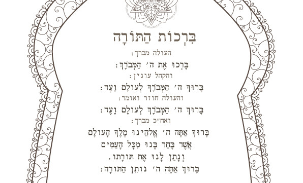 Rachel's Custom Order-Personalized Bat Mitzvah Torah Blessings-Prayer Printable Coloring Page-Jewish Art-INSTANT DOWNLOAD by @zebratoys