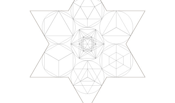 Sacred Geometry Star of David-Ancient Secret Energy Healing Symbols-Coloring Page Printable-INSTANT DOWNLOAD by @HALELUYA Jewish Soul Art
