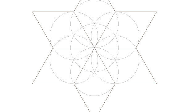 Seed of Life Star of David-Sacred Geometry Art-Energy Healing Mandala-Coloring Page Printable-INSTANT DOWNLOAD by @HALELUYA Jewish Soul Art