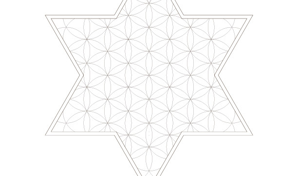 Flower of Life Pattern-Jewish Star of David-Sacred Geometry Symbol-Energy Healing Art-Coloring Page Printable-INSTANT DOWNLOAD by @HALELUYA
