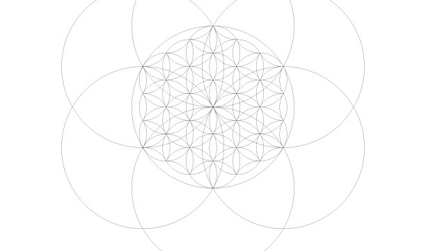 Flower of Life Seed of Life-Sacred Geometry Symbols-Secret Elements-Coloring Page Printable-INSTANT DOWNLOAD by @HALELUYA Sacred Soul Art