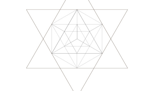 Icosahedrons Star Of David-Sacred Geometry Art-Energy Healing Symbol-Coloring Page Printable-INSTANT DOWNLOAD by @HALELUYA Jewish Soul Art