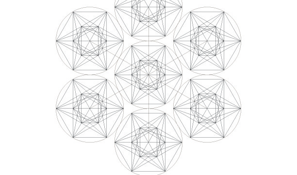 Metatron's Cube-Sacred Geometry Symbol-Ancient Secret Elements-Healing-Coloring Page Printable-INSTANT DOWNLOAD by @HALELUYA Sacred Soul Art