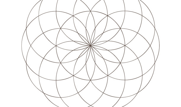 Seed of Life Art-Sacred Geometry Symbols-Spiritual Secret Elements-Coloring Page Printable-INSTANT DOWNLOAD by @HALELUYA Sacred Soul Art