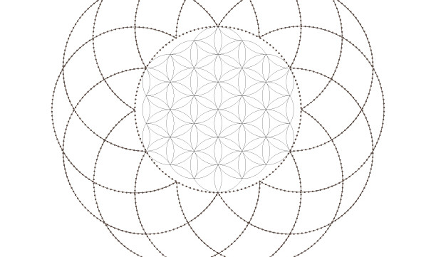 Flower of Life-Seed of Life-Sacred Geometry Symbols-Secret Elements-Coloring Page Printable-INSTANT DOWNLOAD by @HALELUYA Sacred Soul Art