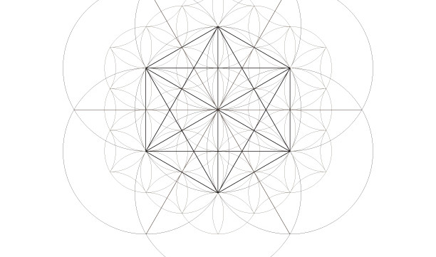 Star Tetrahedron Flower of Life Star of David-Sacred Geometry Symbols-Coloring Page Printable-INSTANT DOWNLOAD by @HALELUYA Jewish Soul Art