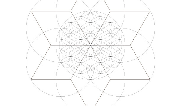 Flower of Life Seed of Life Star of David-Sacred Geometry Symbols-Energy Healing Art-Coloring Page Printable-INSTANT DOWNLOAD by @HALELUYA