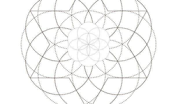Seed of Life Star of David-Secret Sacred Geometry Symbols Art-Energy Healing Elements-Coloring Page Printable-INSTANT DOWNLOAD by @HALELUYA
