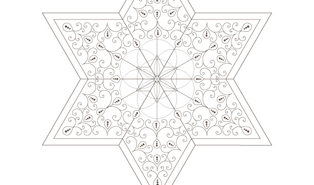 Seed Of Life-Golden Spiral-Star of David-Sacred Geometry Art-Energy Healing Symbols-Coloring Page Printable-INSTANT DOWNLOAD by @HALELUYA