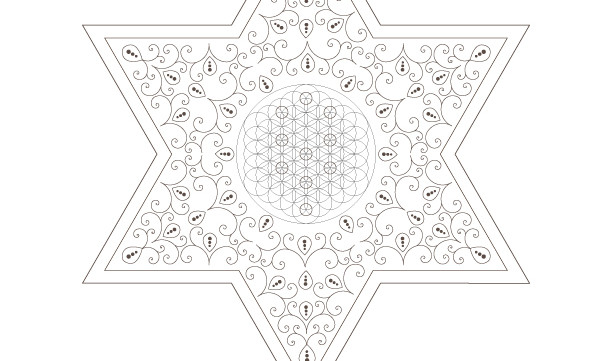 The Tree of Life-Kabbalah-Star of David-Sacred Geometry Symbols-Energy Healing Art-Coloring Page Printable-INSTANT DOWNLOAD by @HALELUYA
