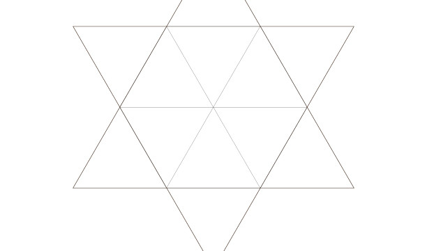 Triangle Star of David-Sacred Geometry-Energy Healing Symbol-Coloring Page Printable-INSTANT DOWNLOAD by @HALELUYA Jewish Soul Art
