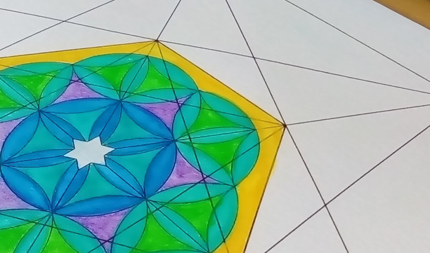 Seed of Life Octahedrons Star of David-Sacred Geometry-Energy Healing Print-Coloring Page-INSTANT DOWNLOAD by @HALELUYA Jewish Soul Art