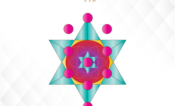 Glow Art Kit-Kabbalah Elements-Tree of Life-Sacred Geometry-Rosh Hashanah Genesis New Creation-INSTANT DOWNLOAD by @HALELUYA Jewish Soul Art