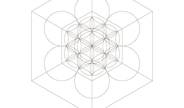Seed of Life Hexahedrons-Sacred Geometry Symbols-Healing Energy Print-Coloring Page Printable-INSTANT DOWNLOAD by @HALELUYA Sacred Soul Art