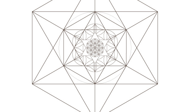 Seed of Life Star of David Octahedrons-Sacred Geometry-Coloring Page Printable-Energy Healing-INSTANT DOWNLOAD by @HALELUYA Jewish Soul Art