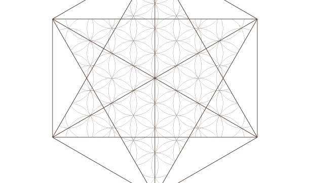 Flower of Life Star Pattern Octahedrons-Sacred Geometry-Coloring Page Printable-Energy Healing-INSTANT DOWNLOAD by @HALELUYA Jewish Soul Art