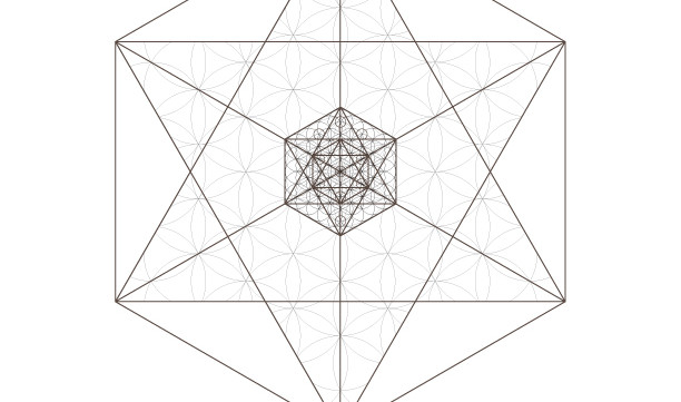 Flower of Life Star Pattern Kabbalah Tree of Life Octahedrons-Sacred Geometry-Coloring Page-INSTANT DOWNLOAD by @HALELUYA Jewish Soul Art