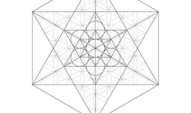 Flower of Life Pattern Star Tetrahedron Octahedrons-Sacred Geometry-Coloring Page Printable-INSTANT DOWNLOAD by @HALELUYA Jewish Soul Art