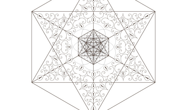 Seed Of Life-Kabbalah Tree of Life-Golden Spiral-Star of David-Octahedrons-Sacred Geometry Art-Coloring Page-INSTANT DOWNLOAD by @HALELUYA