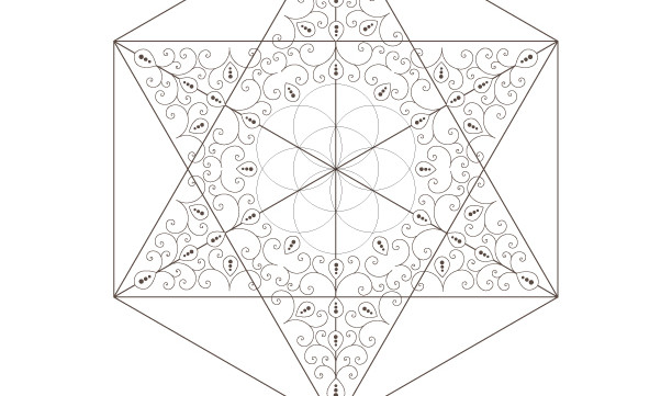Seed Of Life-Golden Spiral-Star of David-Octahedron-Sacred Geometry-Energy Healing Printable-Coloring Page-INSTANT DOWNLOAD by @HALELUYA
