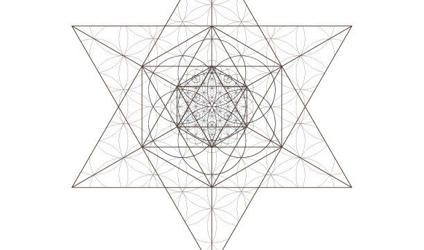 Jewish Star Flower of Life Kabbalah Tree of Life Octahedrons-Sacred Geometry-Coloring Page-INSTANT DOWNLOAD by @HALELUYA Jewish Soul Art