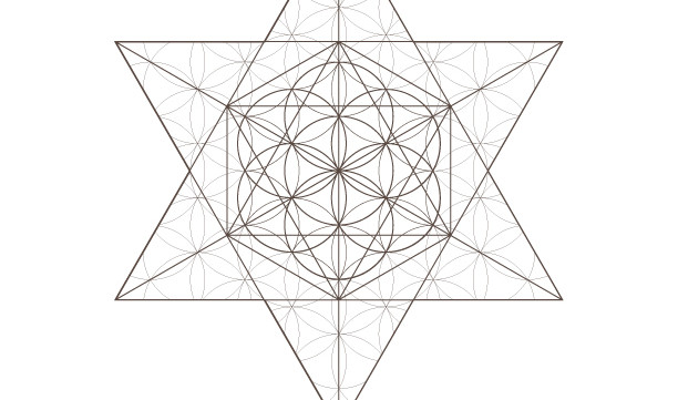Jewish Star Flower of Life Pattern Octahedrons Seed of Life-Sacred Geometry-Coloring Page-INSTANT DOWNLOAD by @HALELUYA Jewish Soul Art