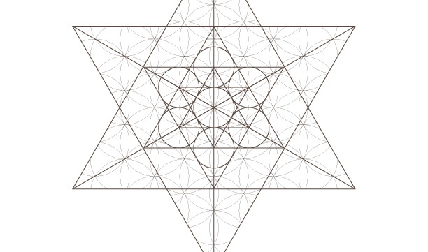 Flower of Life Pattern Star Tetrahedron Star of David-Sacred Geometry-Coloring Page Printable-INSTANT DOWNLOAD by @HALELUYA Jewish Soul Art