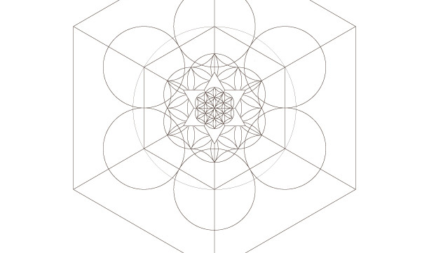 Seed of Life Hexahedron Star of David-Sacred Geometry-Coloring Page Printable-Energy Healing-INSTANT DOWNLOAD by @HALELUYA Jewish Soul Art