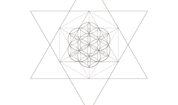 Star of David Seed Of Life Octahedrons-Sacred Geometry Symbols Print-Energy Healing Printable-Coloring Page-INSTANT DOWNLOAD by @HALELUYA