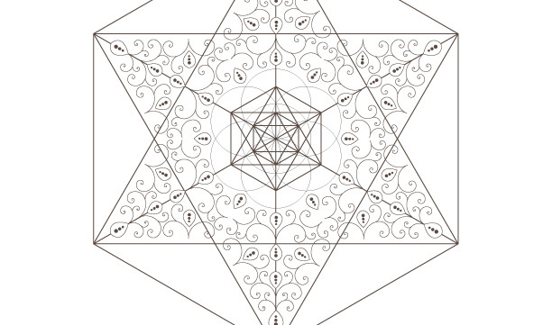 Seed Of Life-Golden Spiral-Star of David-Octahedrons-Sacred Geometry-Energy Healing-Coloring Page Printable-INSTANT DOWNLOAD by @HALELUYA