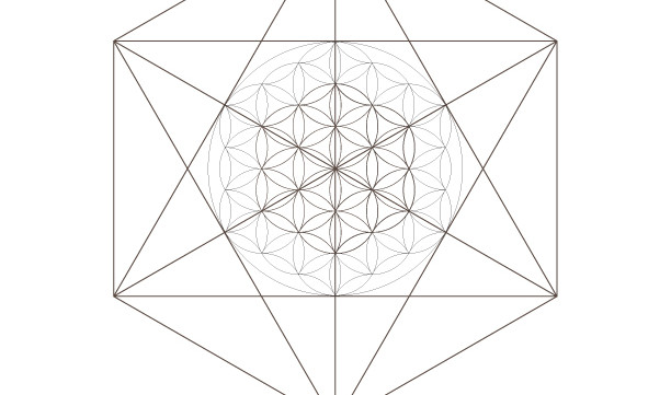 Seed of Life Flower of life Octahedrons-Sacred Geometry-Coloring