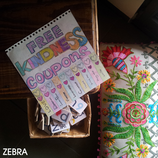 free kindness coupons printablehand drawn décorlove